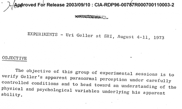 CIA published STARGATE project documents online